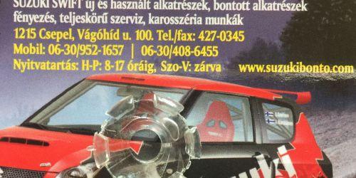 Suzuki Alto - Belső visszapillantó tükör tartó patent 84703-76G20 Már csak 1 darab érhető el! 990Ft
