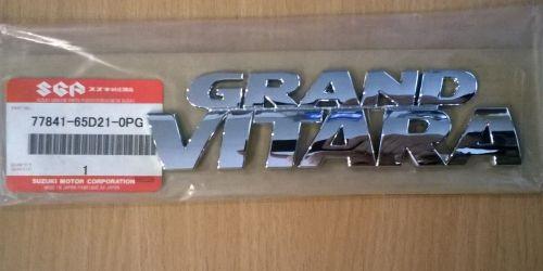 Suzuki Grand Vitara - embléma, dísz felirat, logó 77841-65D21-0PG Gyári. Ft/db 1900Ft