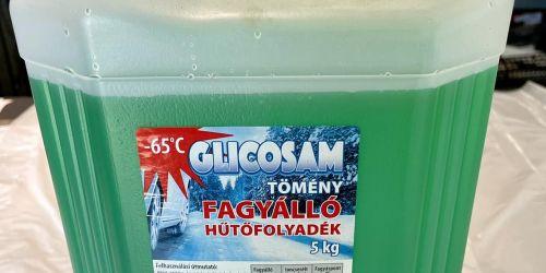 GLICOSAM Fagyálló Hűtőfolyadék Tömény fagyálló hűtőfolyadék 5kg-os kiszerelésben, mely kiváló védelmet nyújt a korrózió ellen, alumínium ötvözetek esetén is. 3900Ft