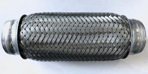 Flexibilis kipufogócső 200x50 Hossza: 200 mm 1. Belső lyukátmérő: 50 mm 2. Belső lyukátmérő: 50 mm 4990Ft