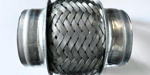 Flexibilis kipufogócső 55x100 Hossza: 100 mm Belső lyukátmérő: 55 mm 4900Ft